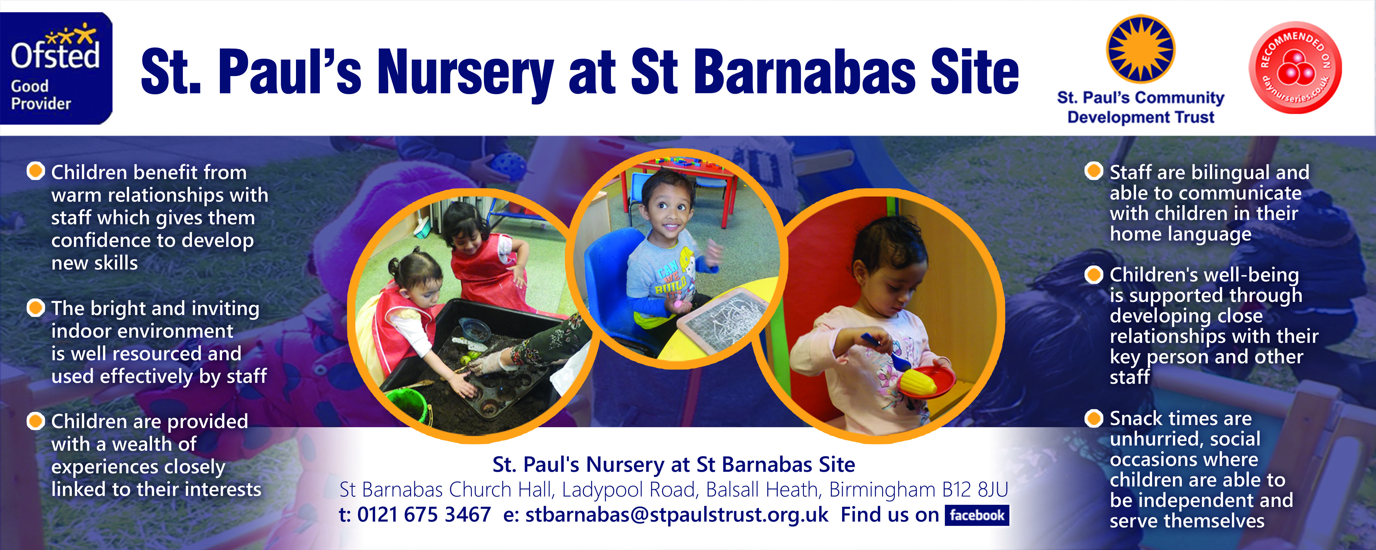 St Barnabas Nursery Banner