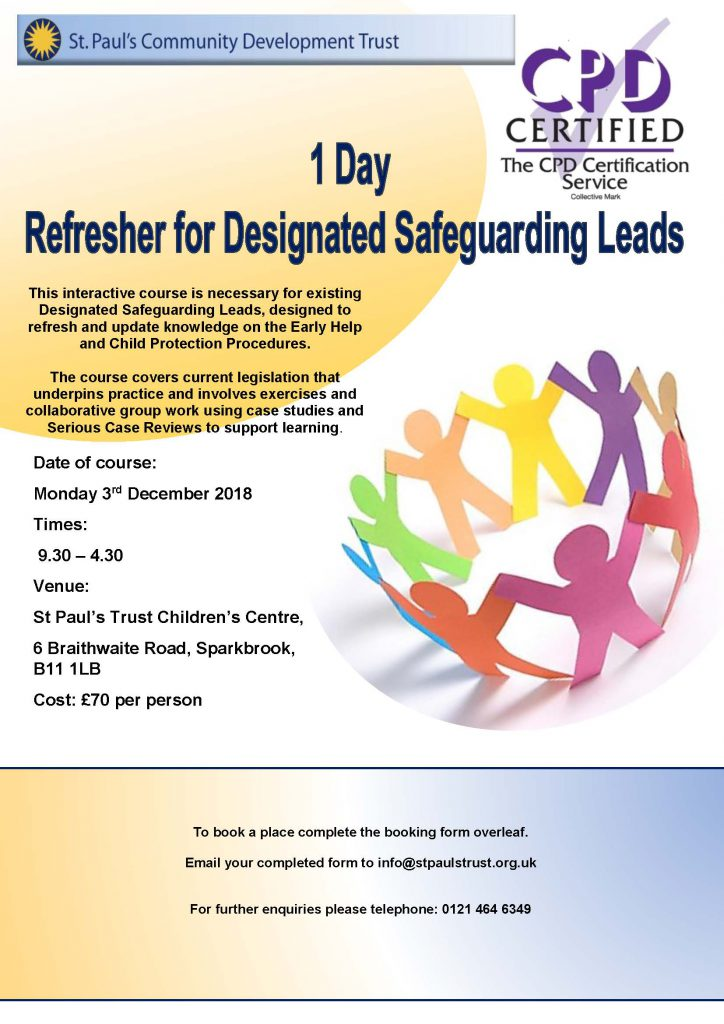 DSL 1 Day Training Poster - December 2018