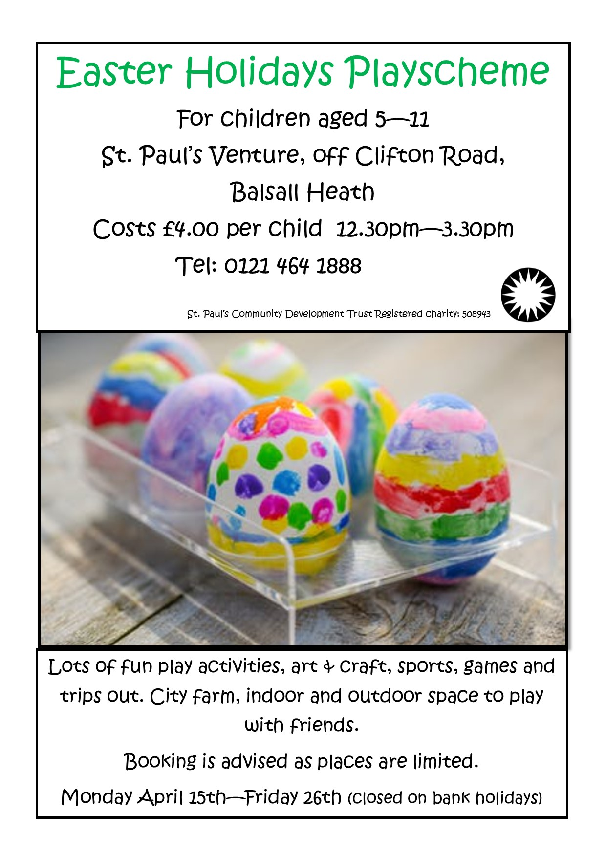 Playscheme Poster Easter 2019