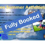 *NOW FULLY BOOKED* Summer Activities at the Venture