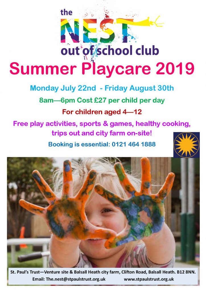 Summer Playcare at the Venture 2019