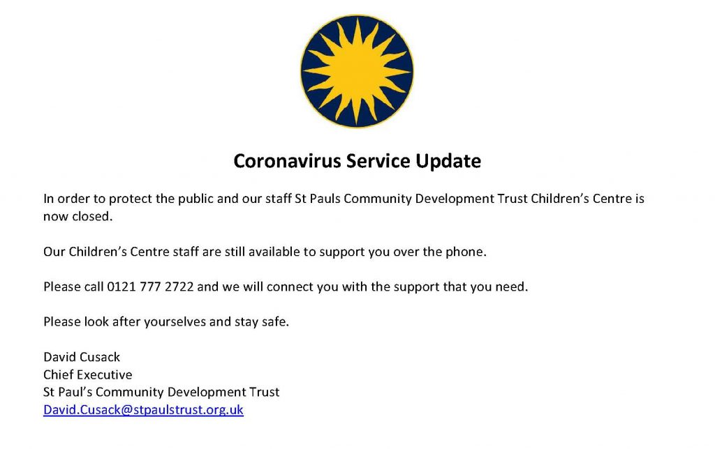 Children Centre Contact Update - Covid19