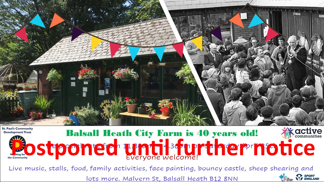 POSTPONED - City Farm Turns 40!
